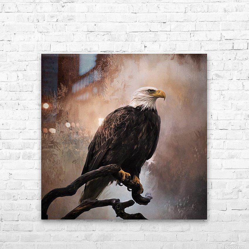 Looking Forward - Eagle Art by Jordan Blackstone HD Sublimation Metal print with Decorating Float Frame (BOX)