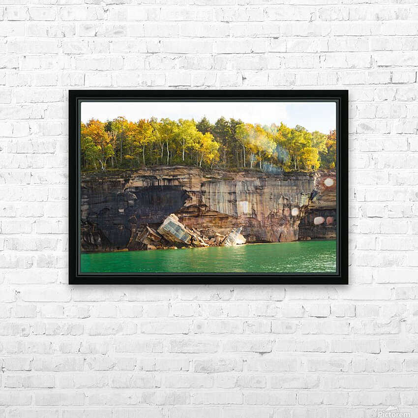 Pictured Rocks ap 2503 HD Sublimation Metal print with Decorating Float Frame (BOX)