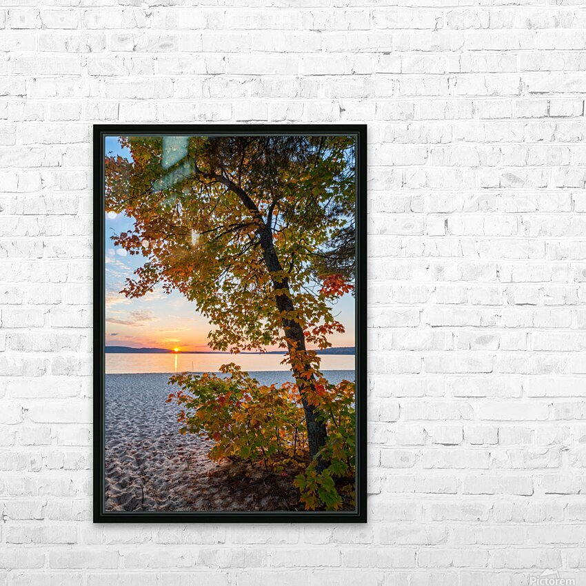 Sunset ap 2574 HD Sublimation Metal print with Decorating Float Frame (BOX)