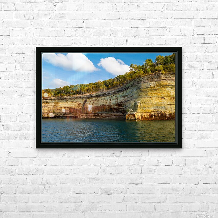 Water Colors ap 2492 HD Sublimation Metal print with Decorating Float Frame (BOX)