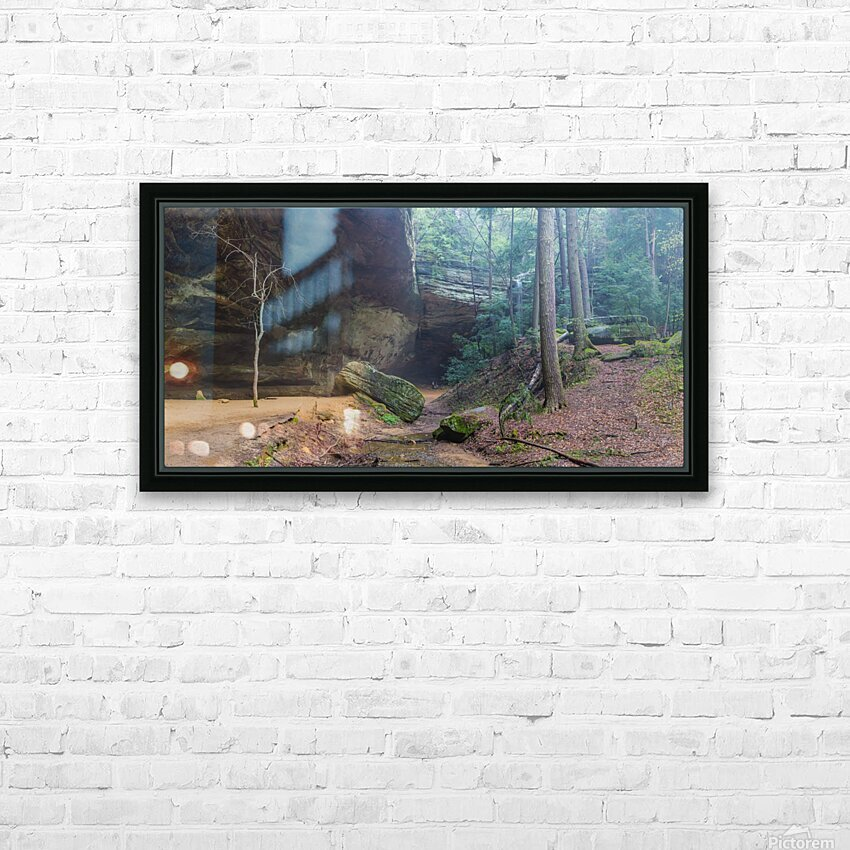 Ash Cave Entrance apmi 1641 HD Sublimation Metal print with Decorating Float Frame (BOX)