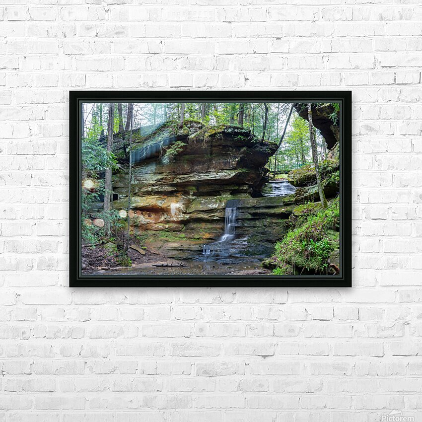 Lodge Falls apmi 1649 HD Sublimation Metal print with Decorating Float Frame (BOX)