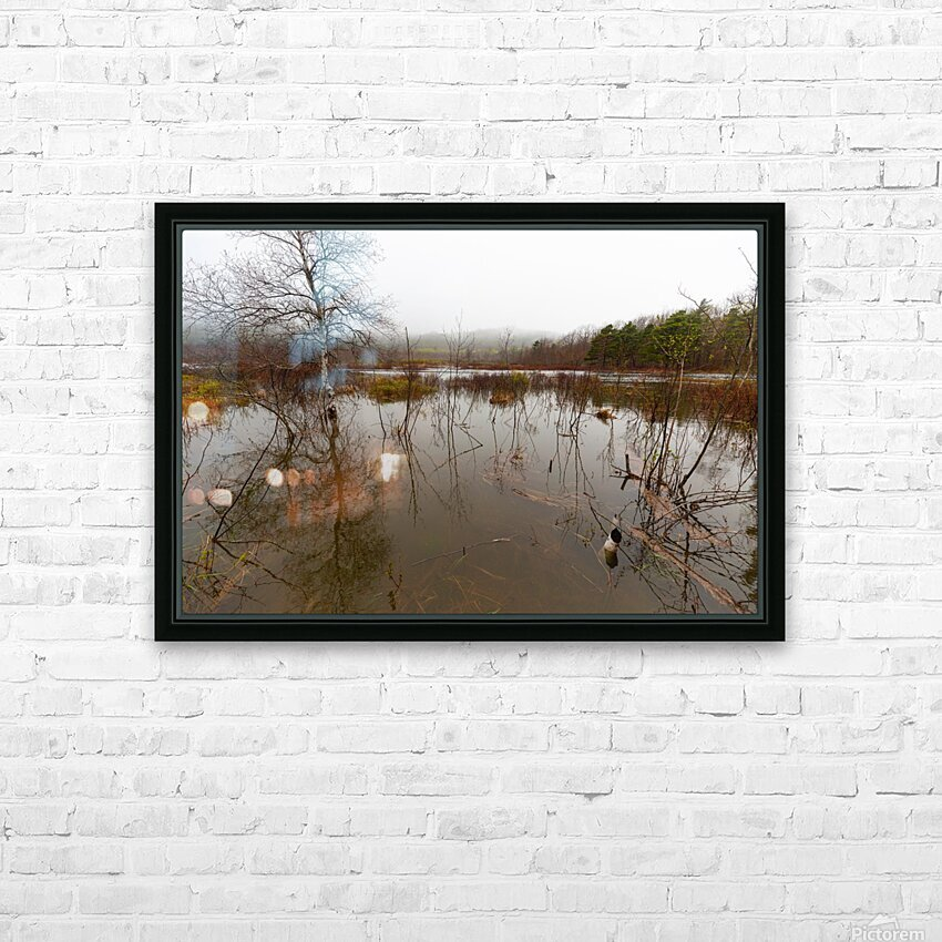 Beaver Pond ap 2357 HD Sublimation Metal print with Decorating Float Frame (BOX)
