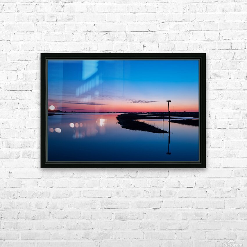 Sunset ap 2762 HD Sublimation Metal print with Decorating Float Frame (BOX)