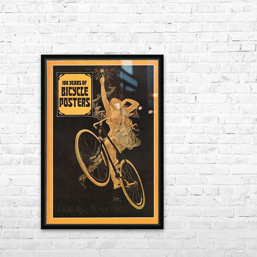 100 years of bicycle posters HD Sublimation Metal print with Decorating Float Frame (BOX)