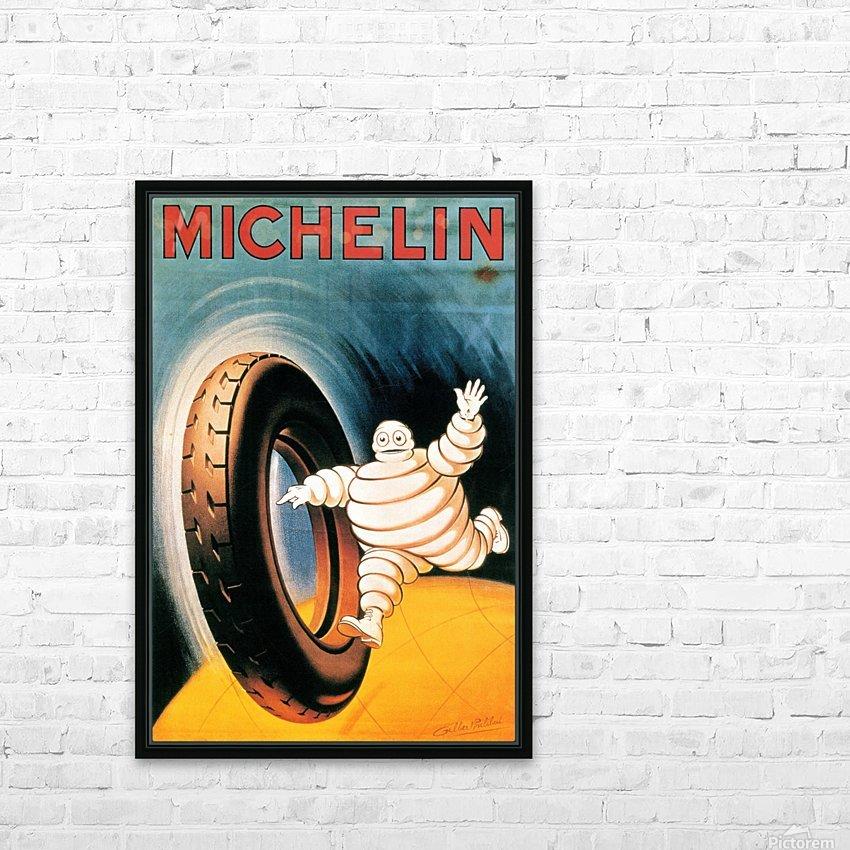 Michelin Poster HD sublimation métal imprimé avec décoration flotteur cadre (boîte)
