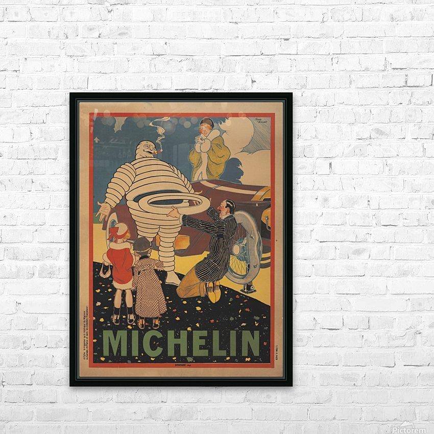 Michelin Pneu HD sublimation métal imprimé avec décoration flotteur cadre (boîte)