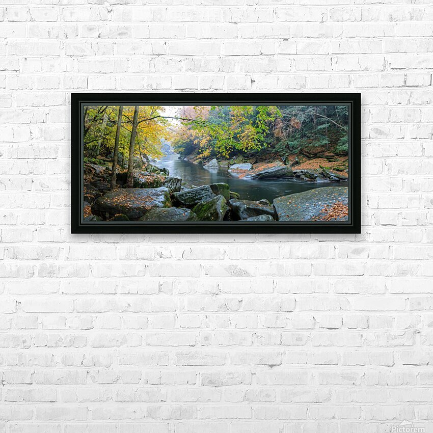 Slippery Rock Creek apmi 1934 HD Sublimation Metal print with Decorating Float Frame (BOX)