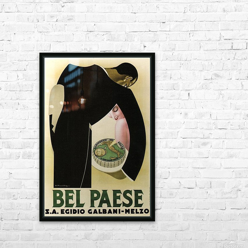 Bel Paese HD Sublimation Metal print with Decorating Float Frame (BOX)