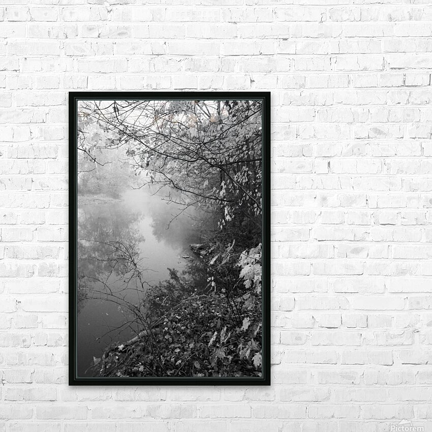 Morning Fog ap 1570 B&W HD Sublimation Metal print with Decorating Float Frame (BOX)