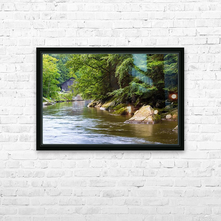 Slippery Rock Creek ap 1944 HD Sublimation Metal print with Decorating Float Frame (BOX)