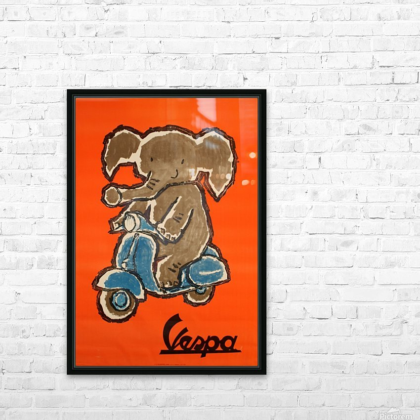 Vespa HD Sublimation Metal print with Decorating Float Frame (BOX)