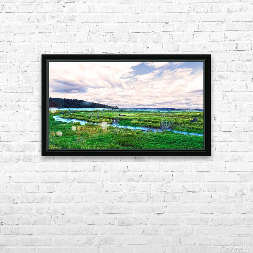 The Estuary in Fall HD Sublimation Metal print with Decorating Float Frame (BOX)