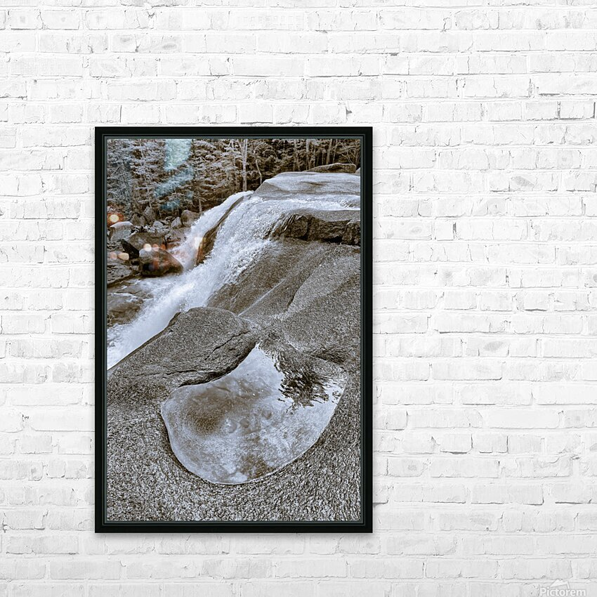 Waterfall ap 2212 B&W HD Sublimation Metal print with Decorating Float Frame (BOX)