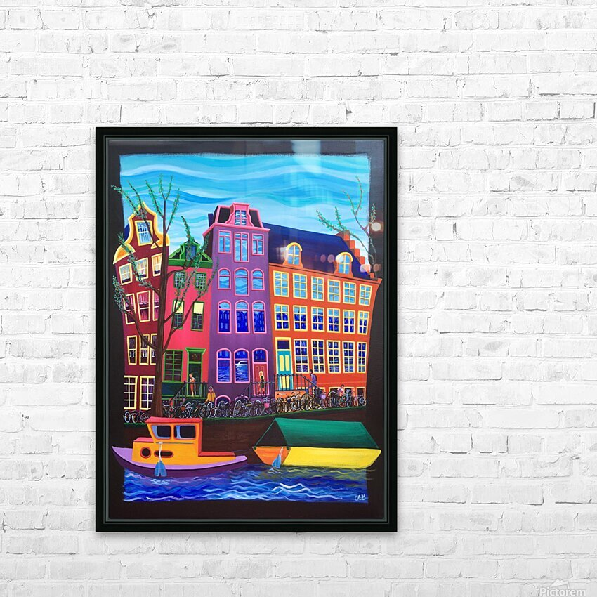 Amsterdam in November HD Sublimation Metal print with Decorating Float Frame (BOX)