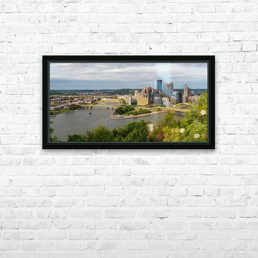 Pittsburgh apmi 1693 HD Sublimation Metal print with Decorating Float Frame (BOX)