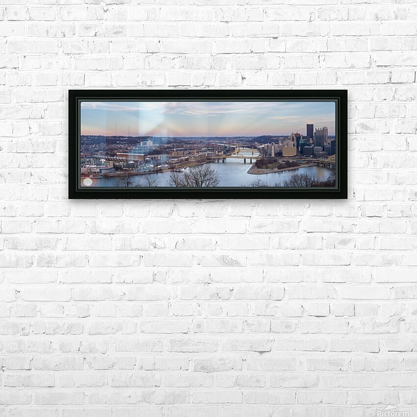 Pittsburgh apmi 1513 HD Sublimation Metal print with Decorating Float Frame (BOX)