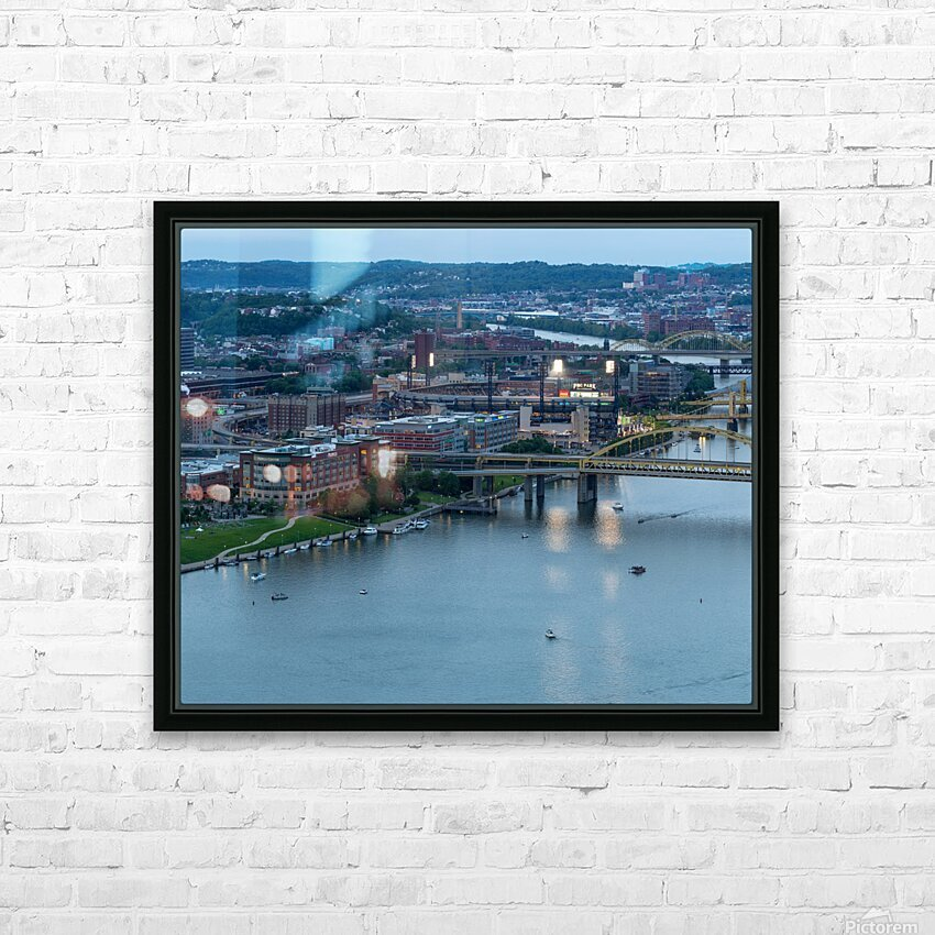 PNC Park apmi 1706 HD Sublimation Metal print with Decorating Float Frame (BOX)