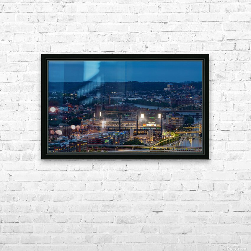 PNC Park apmi 1707 HD Sublimation Metal print with Decorating Float Frame (BOX)