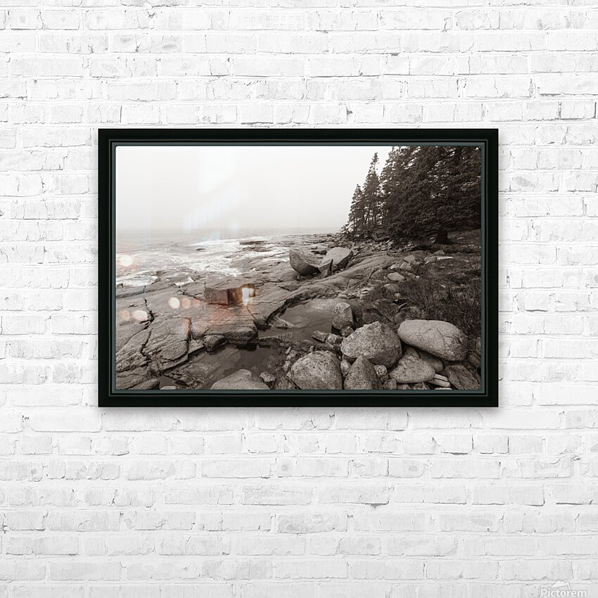 Boulders ap 2256 B&W HD Sublimation Metal print with Decorating Float Frame (BOX)