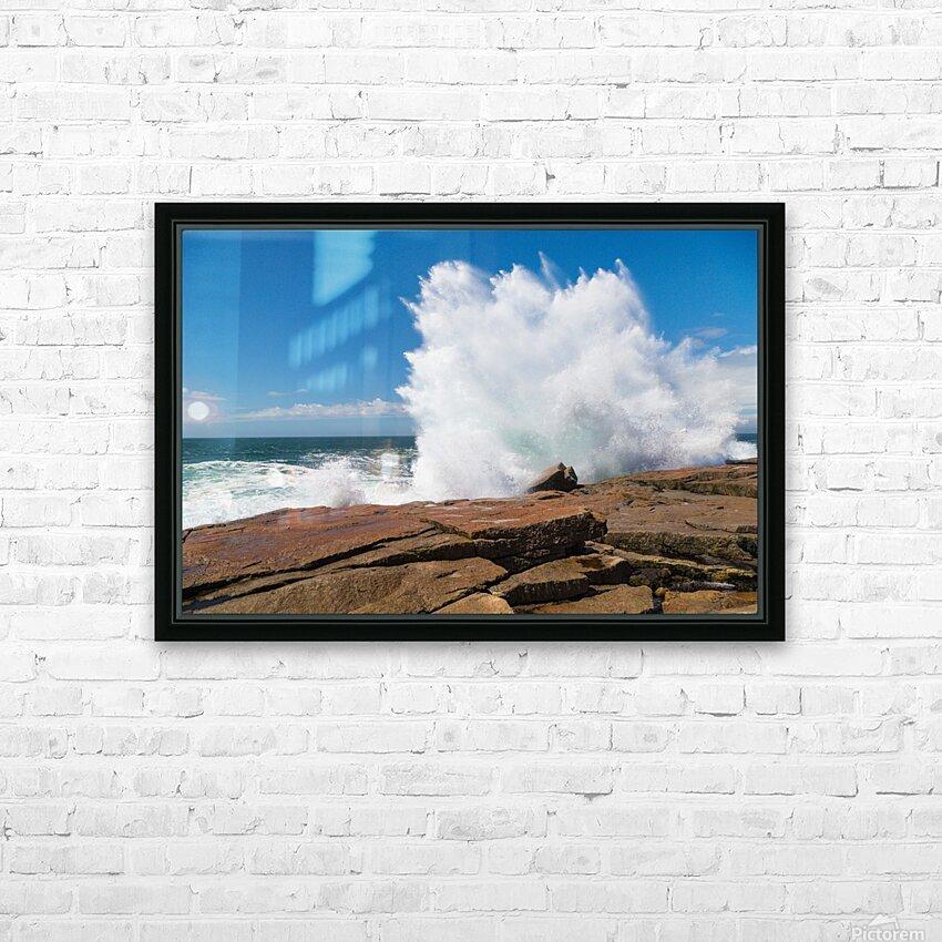 Crashing Wave ap 2309 HD Sublimation Metal print with Decorating Float Frame (BOX)
