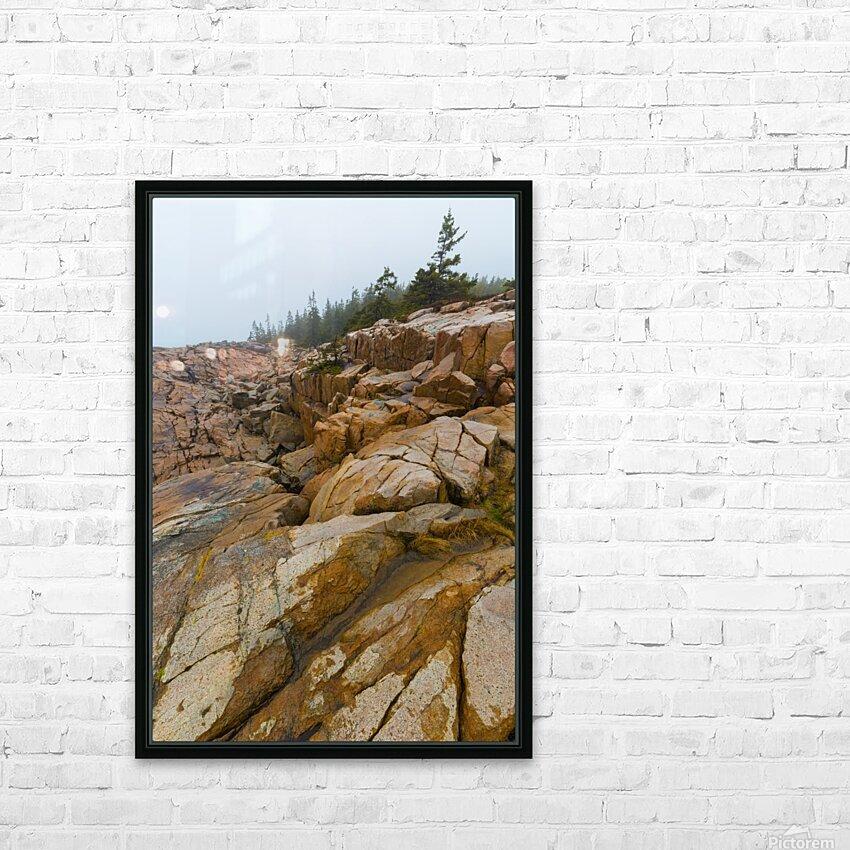 Granite Boulders ap 2270 HD Sublimation Metal print with Decorating Float Frame (BOX)