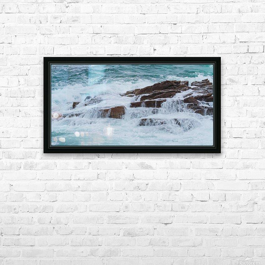 Crashing Waves ap 1535 HD Sublimation Metal print with Decorating Float Frame (BOX)