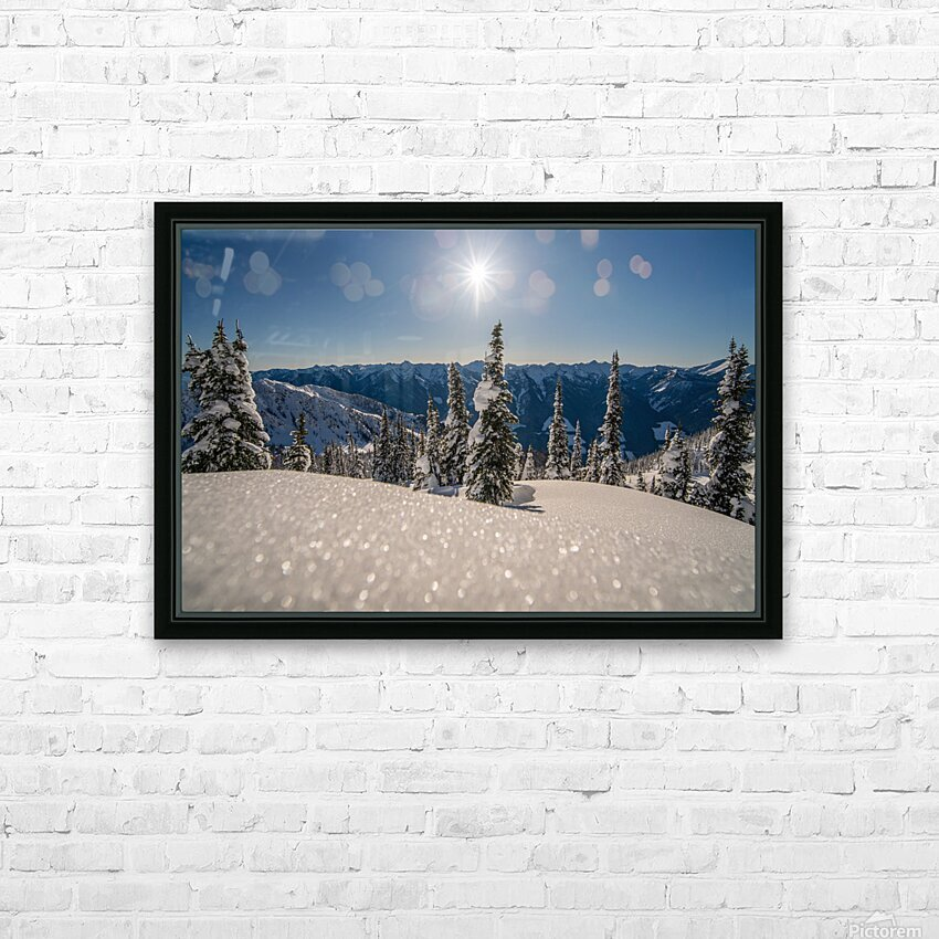 Mid winter blues HD Sublimation Metal print with Decorating Float Frame (BOX)