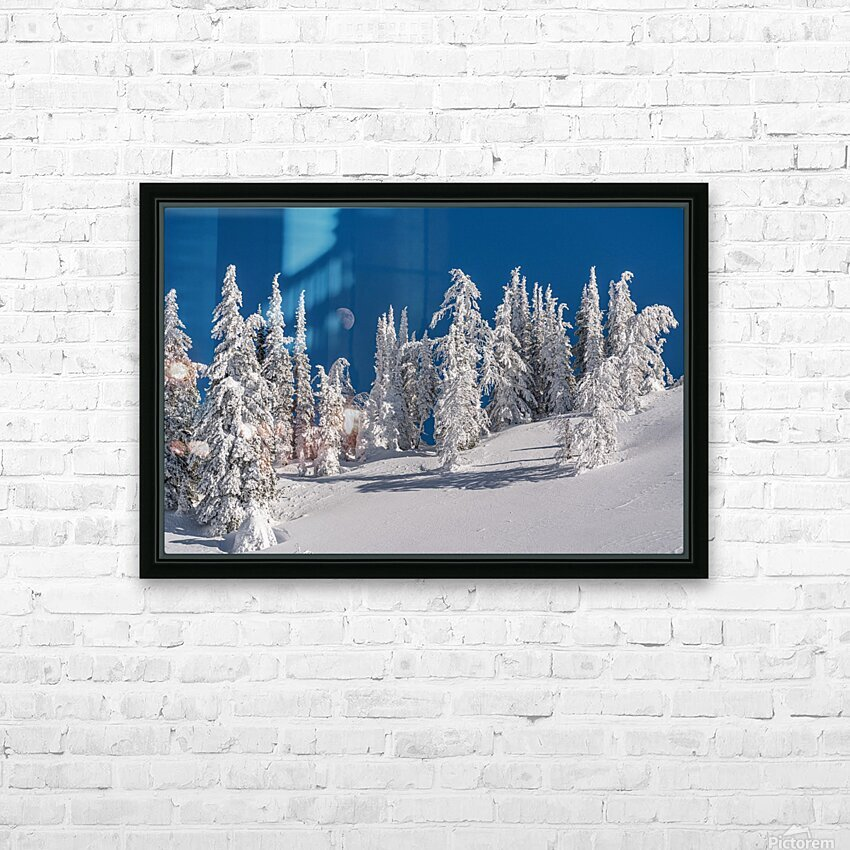 Alpine moon HD Sublimation Metal print with Decorating Float Frame (BOX)