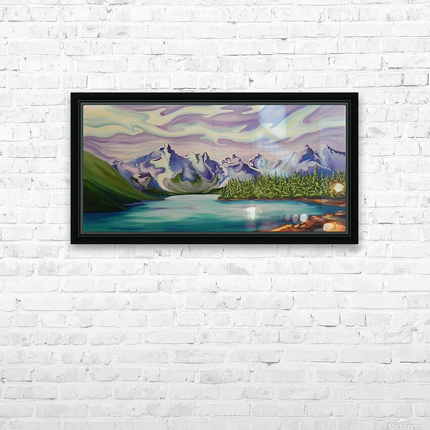 Beautiful Banff  HD Sublimation Metal print with Decorating Float Frame (BOX)