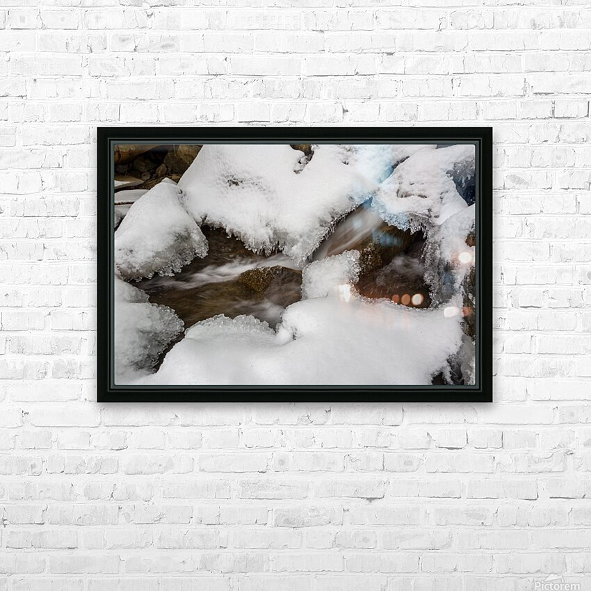Ice ap 2726 B&W HD Sublimation Metal print with Decorating Float Frame (BOX)