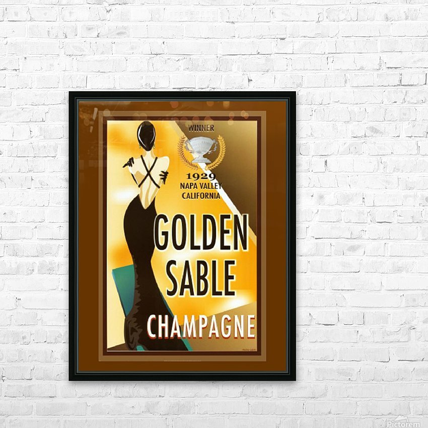Golden Stable Champagne HD Sublimation Metal print with Decorating Float Frame (BOX)