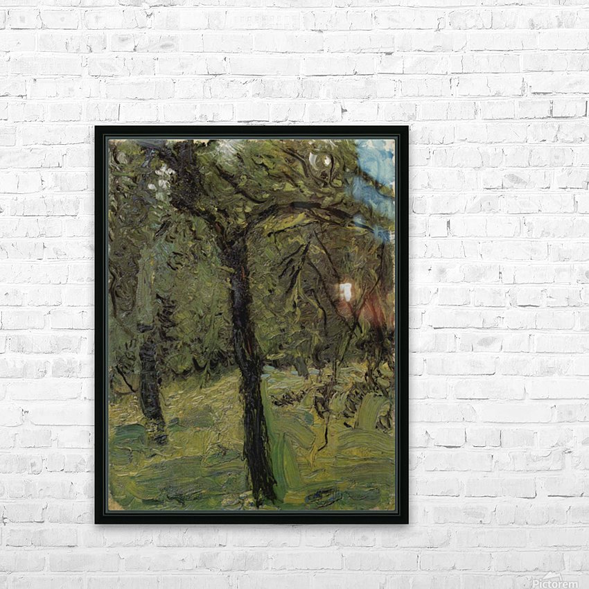 Sunny Meadow with fruit trees by Richard Gerstl HD Sublimation Metal print with Decorating Float Frame (BOX)