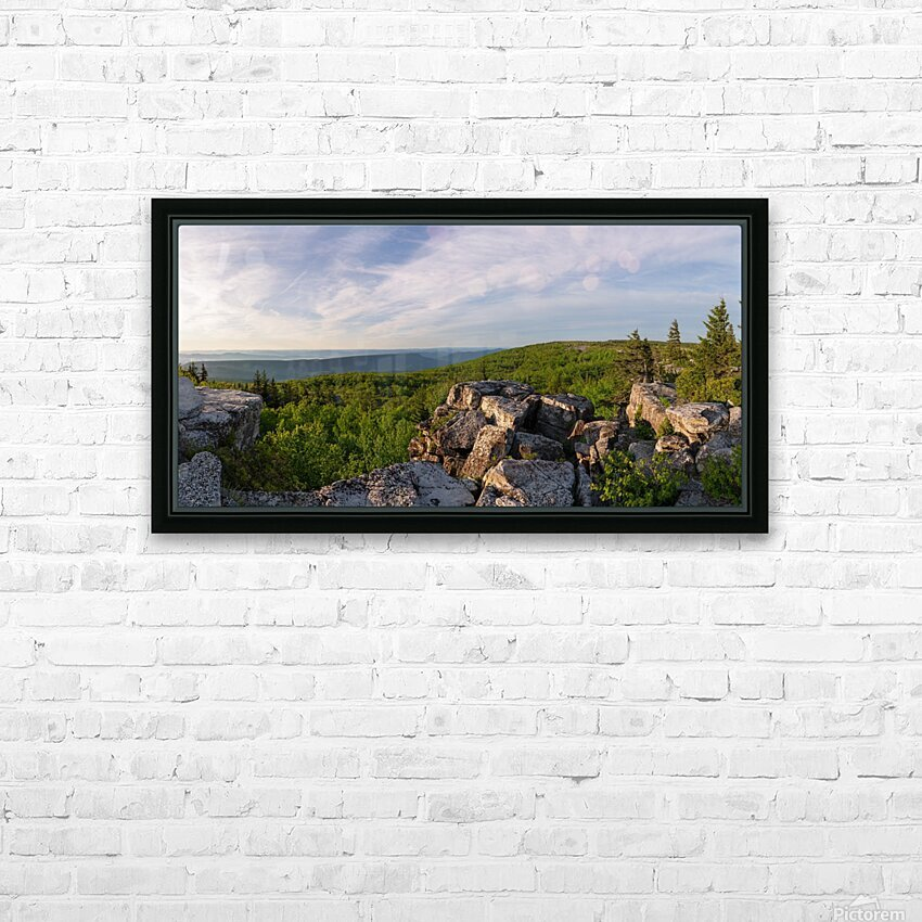 Bear Rocks at Sunrise apmi 1714 HD Sublimation Metal print with Decorating Float Frame (BOX)