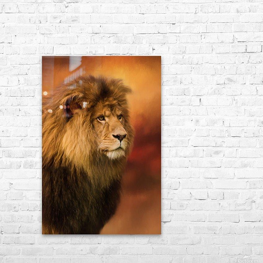 Lion Legacy - Lion Art by Jordan Blackstone HD Sublimation Metal print with Decorating Float Frame (BOX)