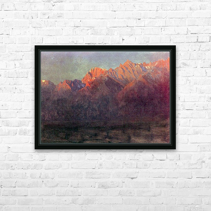 Sunrise in the Sierras by Bierstadt HD Sublimation Metal print with Decorating Float Frame (BOX)