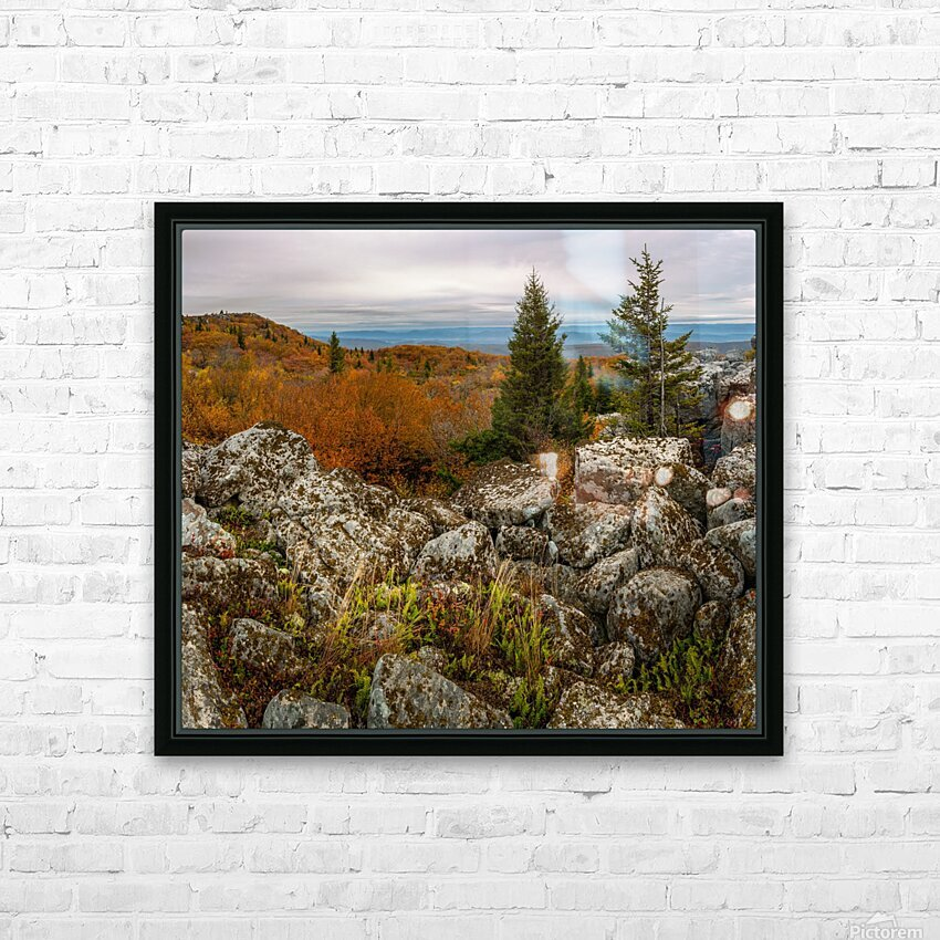 Bear Rocks Overlook apmi 1789 HD Sublimation Metal print with Decorating Float Frame (BOX)