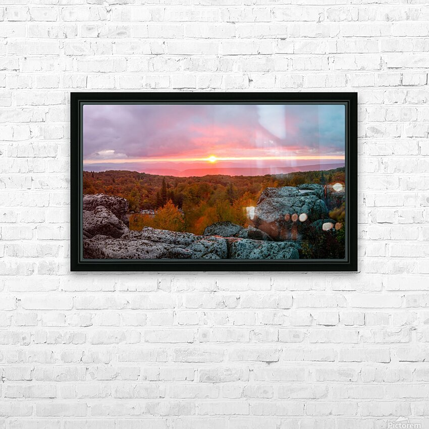 Bear Rocks at Sunrise apmi 1754 HD Sublimation Metal print with Decorating Float Frame (BOX)