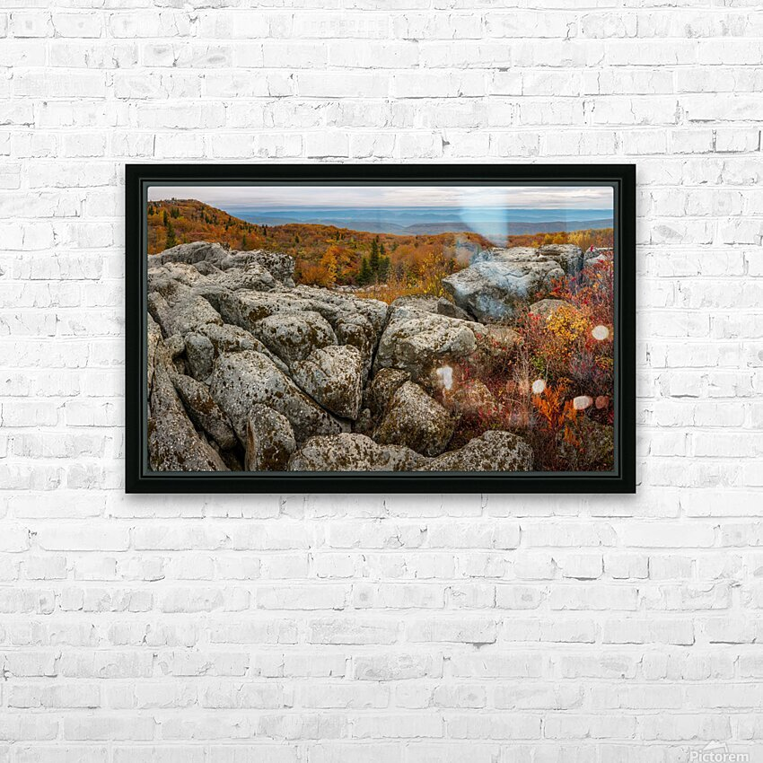 Bear Rocks Overlook apmi 1793 HD Sublimation Metal print with Decorating Float Frame (BOX)