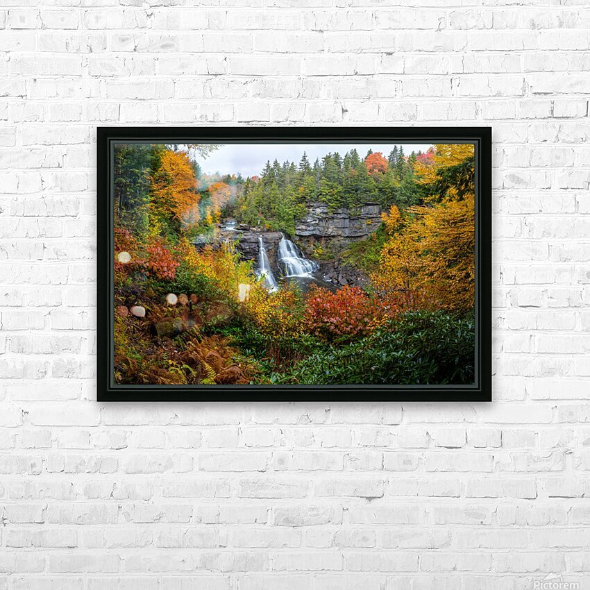 Blackwater Falls apmi 1904 HD Sublimation Metal print with Decorating Float Frame (BOX)