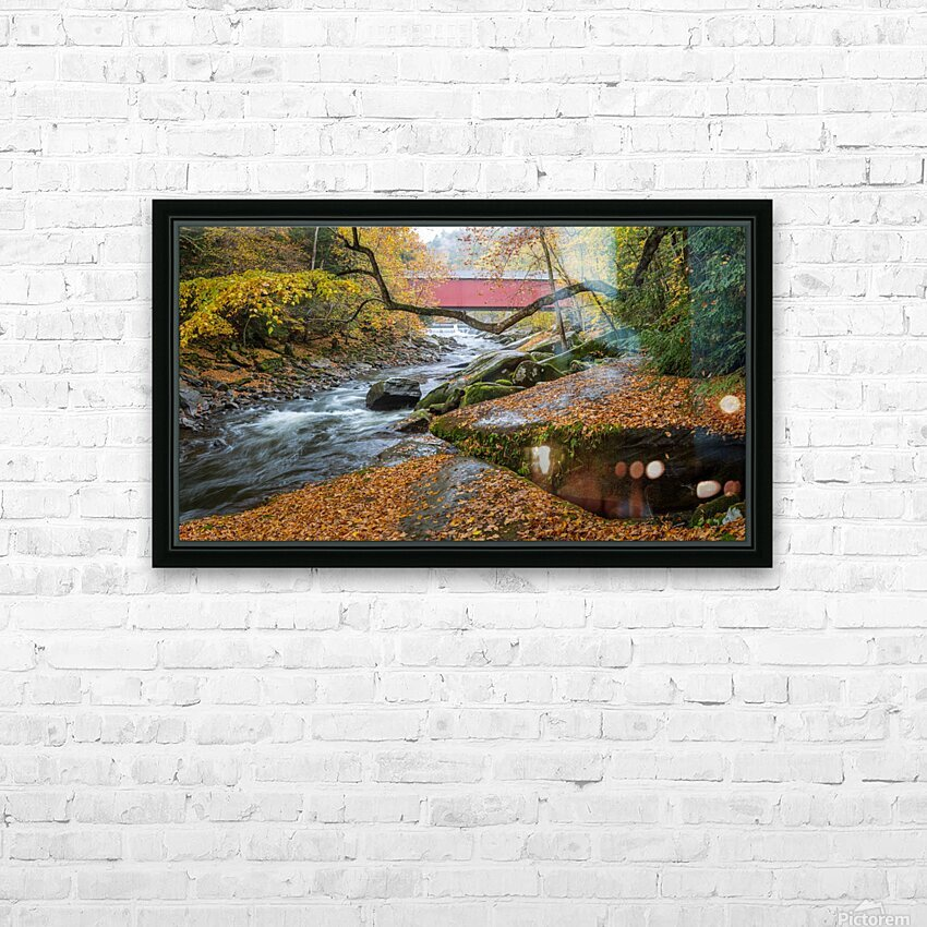 Covered Bridge apmi 1954 HD Sublimation Metal print with Decorating Float Frame (BOX)