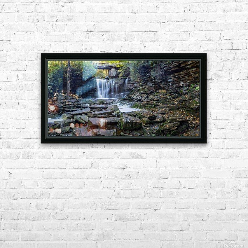 Elakala Falls and Bridge apmi 1775 HD Sublimation Metal print with Decorating Float Frame (BOX)