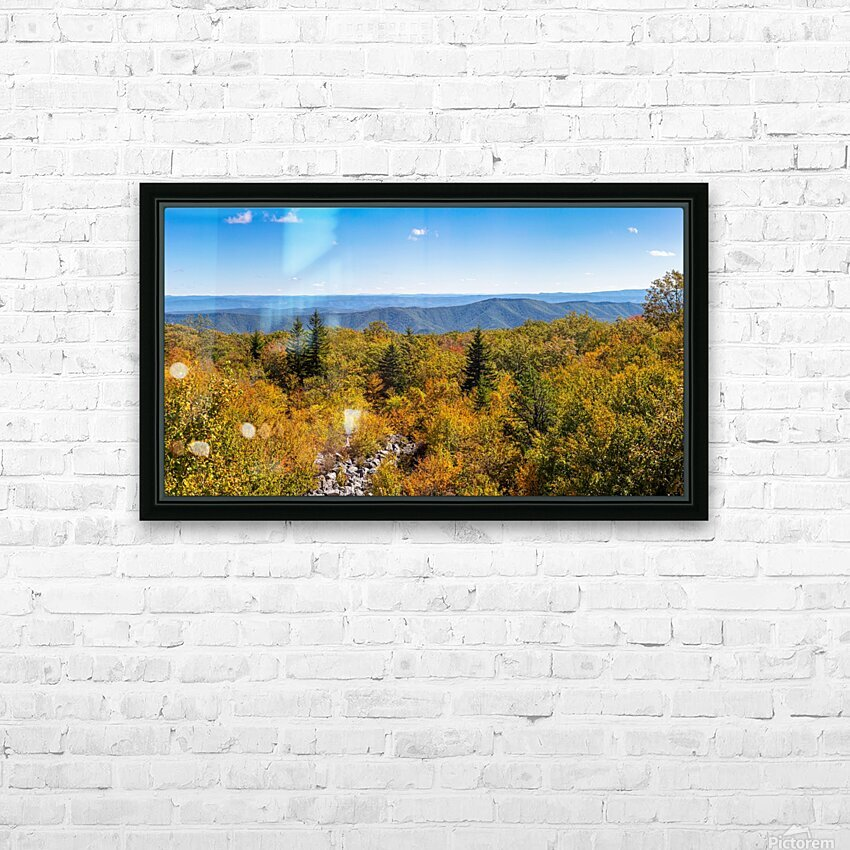 Rock Slide apmi 1765 HD Sublimation Metal print with Decorating Float Frame (BOX)