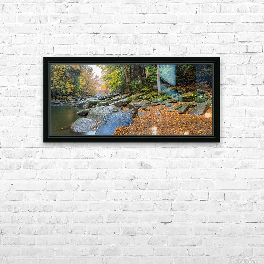 Slippery Rock Creek apmi 1959 HD Sublimation Metal print with Decorating Float Frame (BOX)