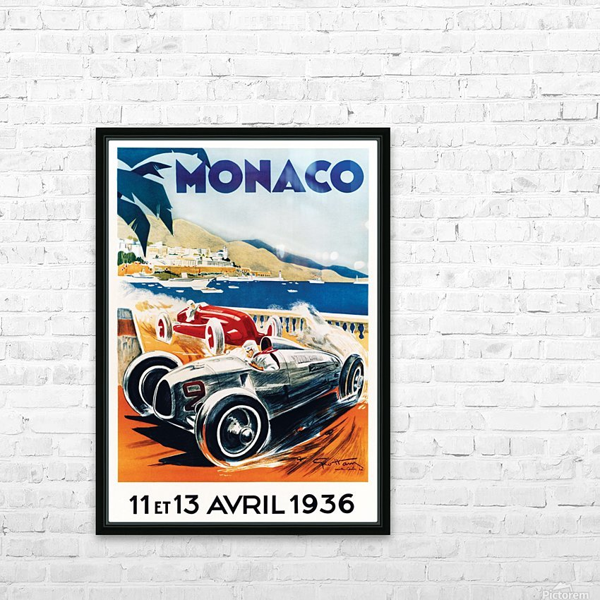 Monaco April 1936 HD Sublimation Metal print with Decorating Float Frame (BOX)