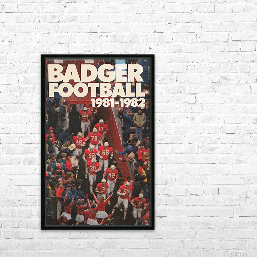 1981 Wisconsin Badgers Football Poster HD Sublimation Metal print with Decorating Float Frame (BOX)