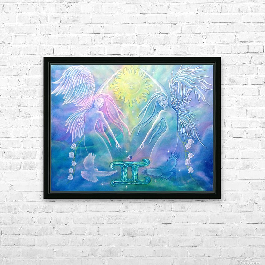Gemini Angels HD Sublimation Metal print with Decorating Float Frame (BOX)