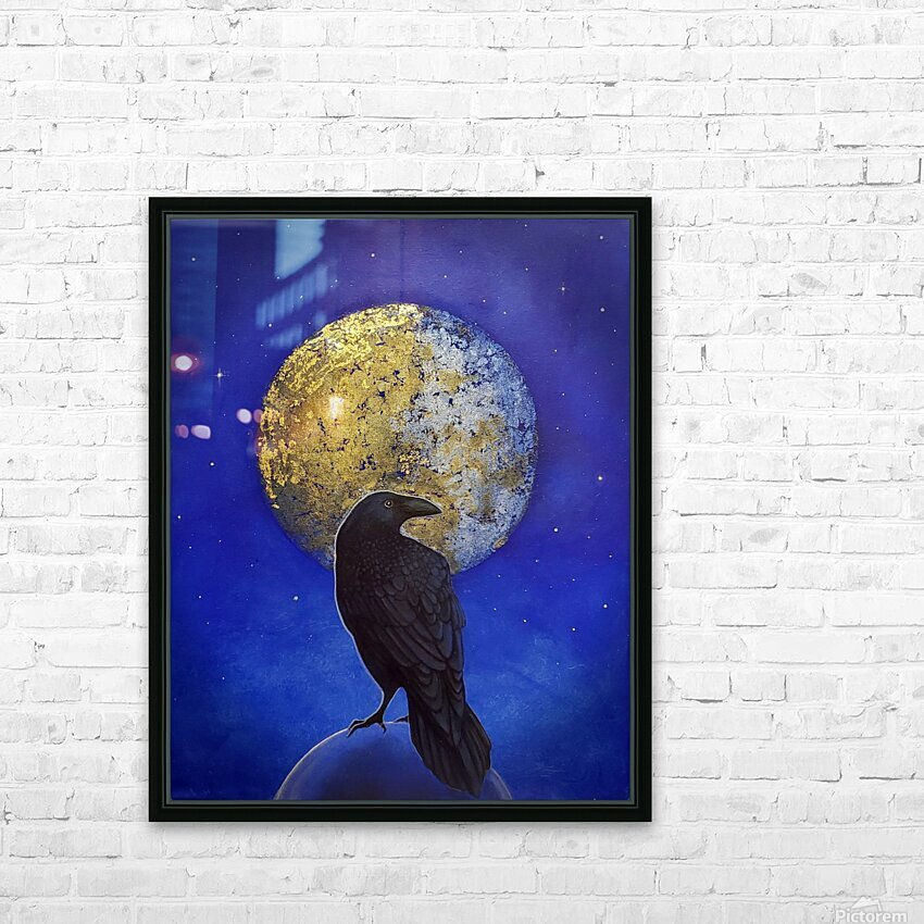 Raven Shine HD Sublimation Metal print with Decorating Float Frame (BOX)