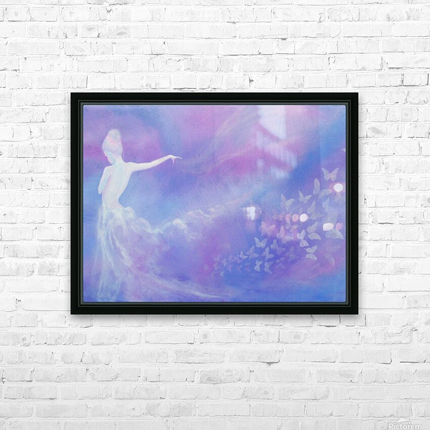Whispers Of Love HD Sublimation Metal print with Decorating Float Frame (BOX)