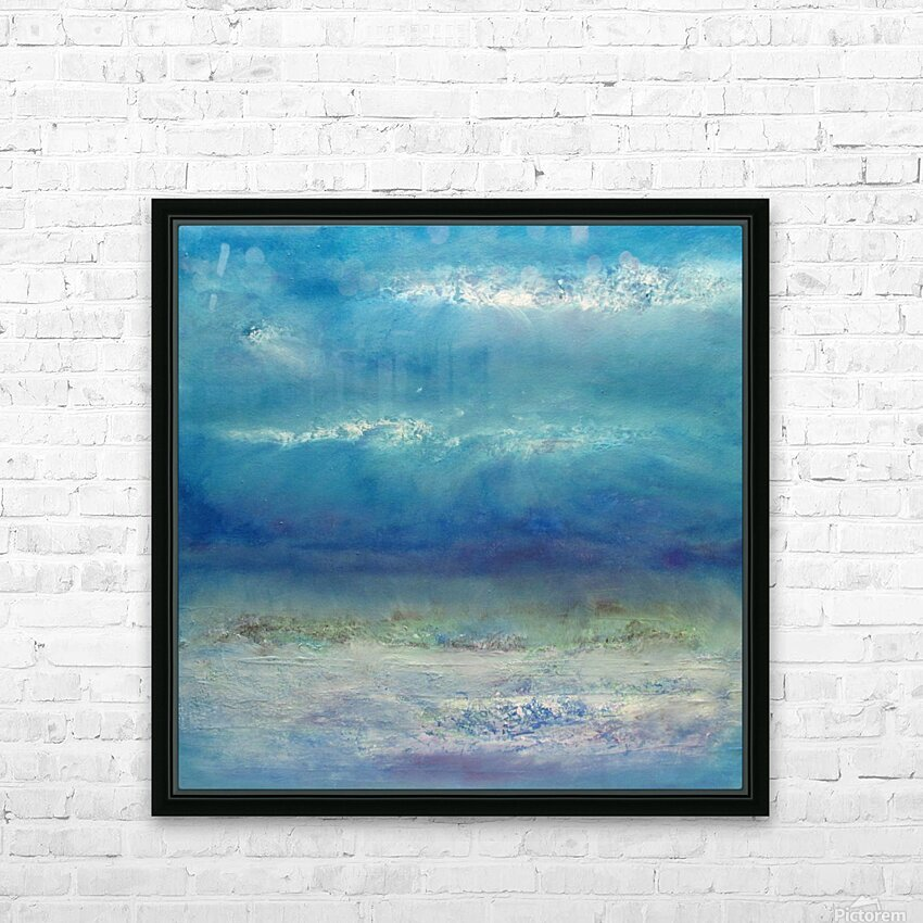 Infinity Beyond The Blue HD Sublimation Metal print with Decorating Float Frame (BOX)